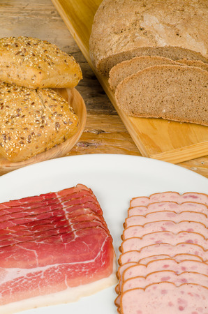 leberkaese: Traditional Bavarian cuisine, cold meat