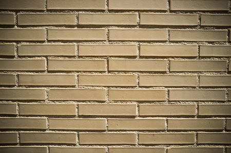 vignetting: Full frame take of a brick wall with lens vignetting Stock Photo