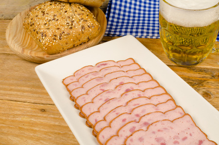 Leberkaese, a hearty  German cold meat snack