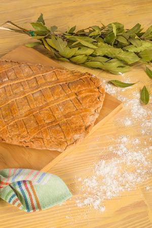 Spanish empanada, traditional homemade food photo