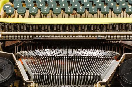 typebar: Full frame take of an old typewriter Stock Photo