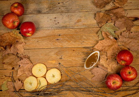 stil: Apples and marmalade in an autumn stil llife