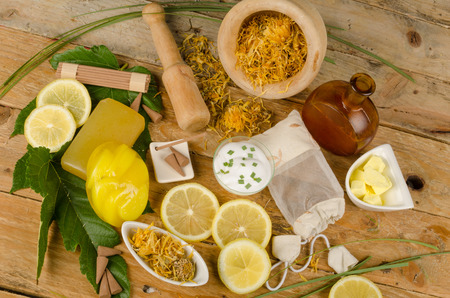 beauty care: Natural cosmetics with marigold as an ingredient