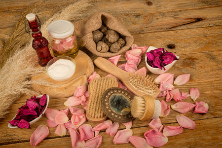 beauty care: Natural cosmetics with some  its ingredients