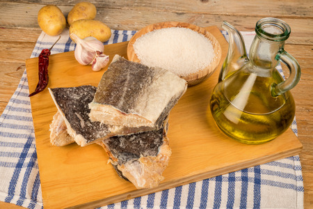 potato cod: Main ingredients to cook a traditional Mediterranean cod stew