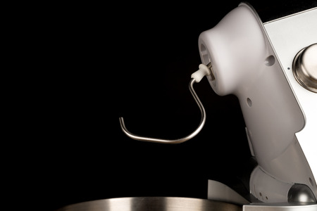 food processor: Food processor with a dough hook tool attached Stock Photo