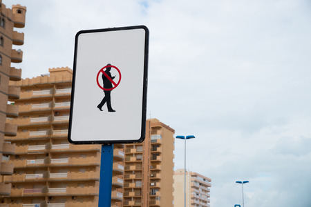 distraction: Sighn telling pedestrians to mind traffic instead of their smartphone