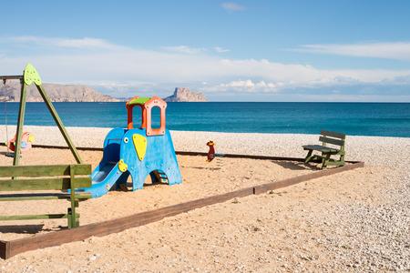 costa blanca: Playground on a sunny Mediterranean beach, Costa Blanca, Spain