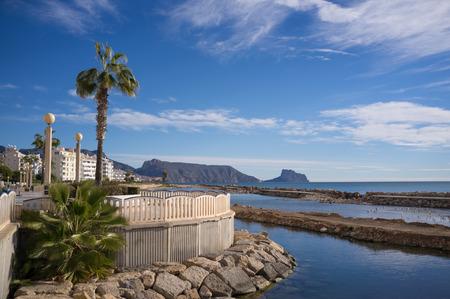 promenade: Altea seaside promenade on a sunny morning