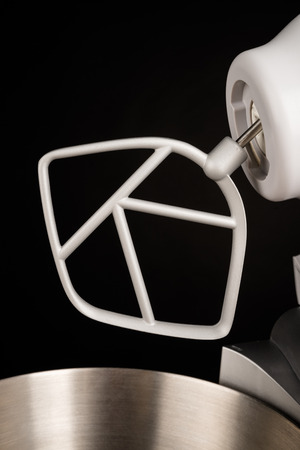 food processor: Electric food processor with a beater tool on Stock Photo