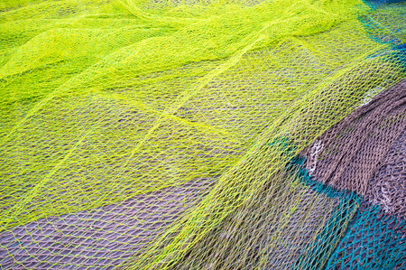 fishing nets: Full frame take of a heap of fishing nets