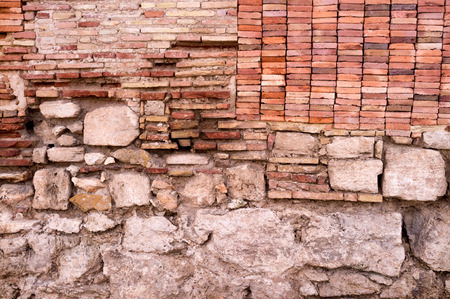 ���archeological site���: Different layers of a wall on an archeological site