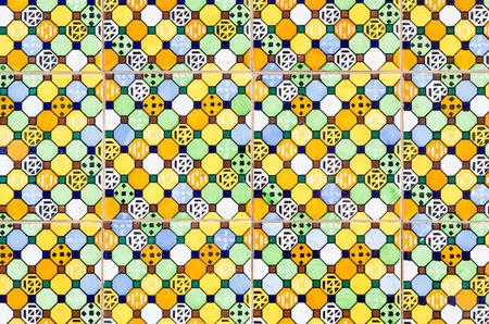 Full frame take of ceramic mosaic tiles