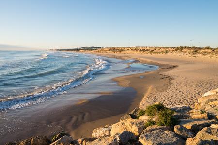 idyllic: Idyllic Guardamar beach on a sunny morning
