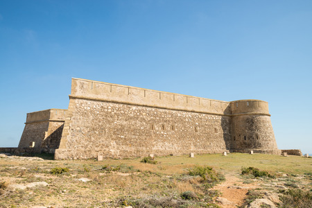fortification: Coastal fortification overlooking the Mediterranean in Almeria, Andalusia, Spain Editorial