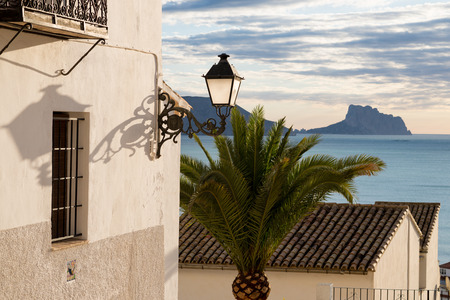 altea: Calm Altea bay as seen from its old town