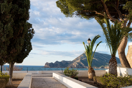 altea: View over Altea bay from the old town Stock Photo
