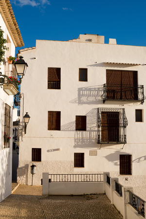 whitewashed: Whitewashed facades of Altea old town houses, Costa Blanca, Spain