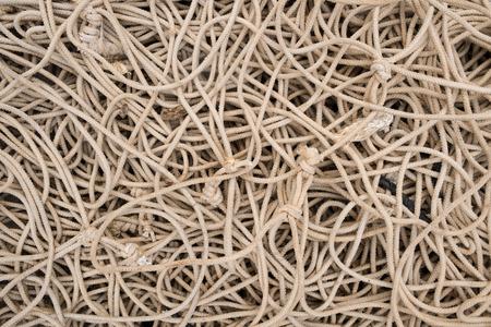 tangled: Full frame take of some tangled ropes