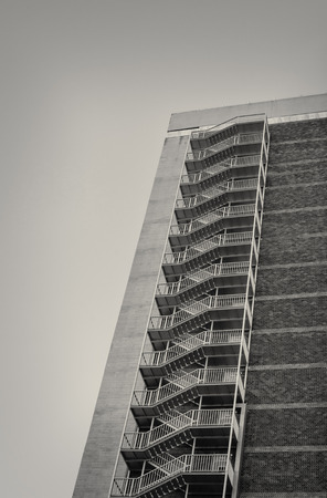fire escape: Fire escape ladder on a high rise building