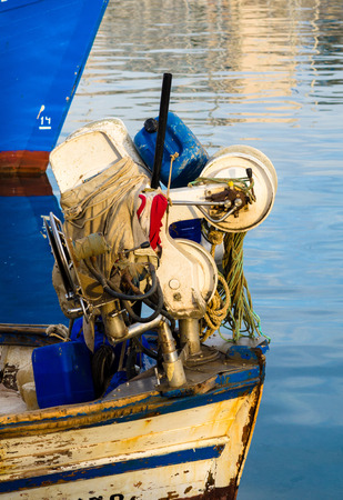 altea: Detail take of fishing boats and equipment Stock Photo