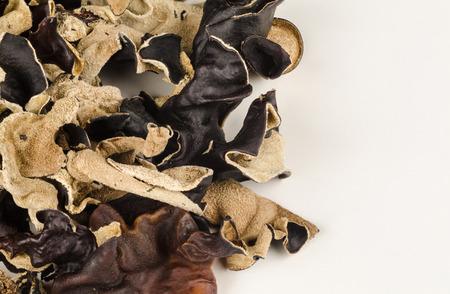 jews: Heap of dehydrated Jews Ear mushrooms, Asian cuisine ingredient