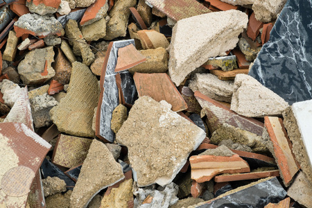 sorts: Heap of rubble with all sorts of construction materials
