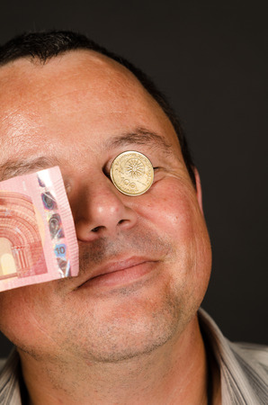 greek currency: Turning a blind eye on the Greek crisis, a concept