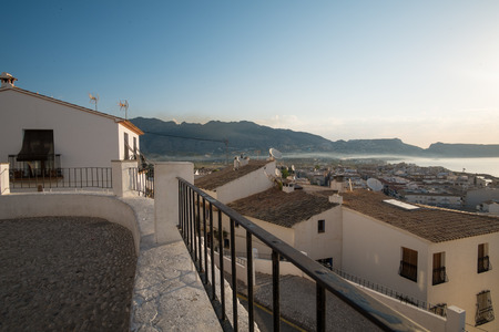 altea: View over Altea and its bay from its old town