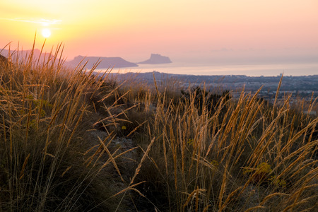blanca: Costa Blanca sunrise with Altea bay in the background