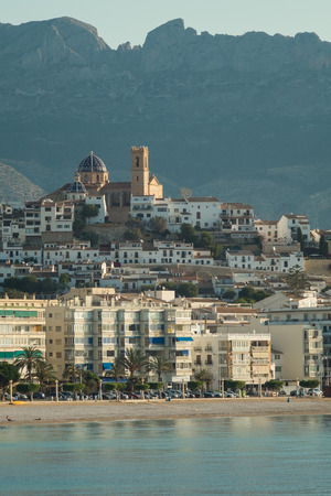 altea: Scenic Altea old town on top of a hill