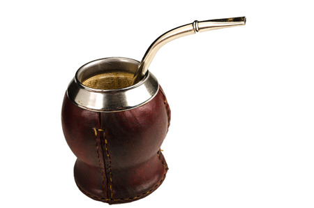 mate infusion: Traditional handmade equipment as used to drink mate