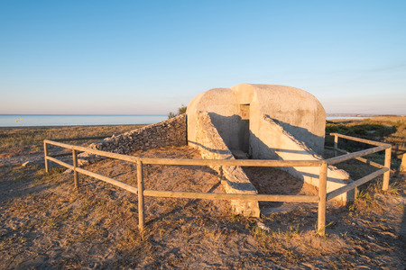 pillbox: Bunkers from the Spanish Civil War on a Mediterranean beach