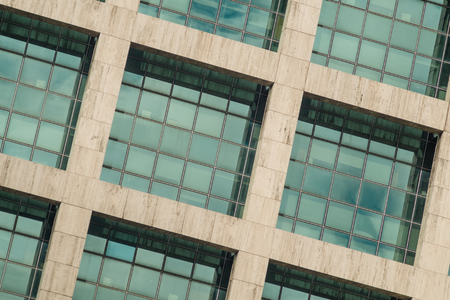 windows frame: Full frame take of a facade with large windows