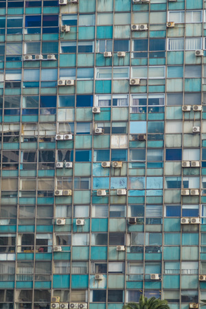 windows frame: Full frame take of windows with air conditioning units