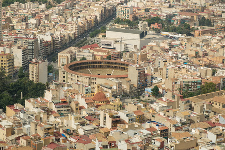 corrida de toros: Plaza de Toros en el centro de la ciudad, Alicante, España Foto de archivo