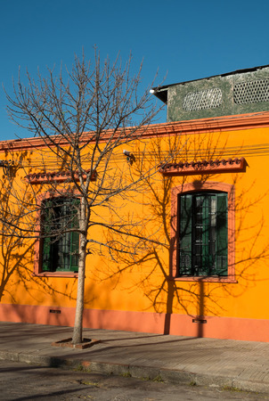 montevideo: Vibrant facade in Montevideo Aguada district, Uruguay Stock Photo