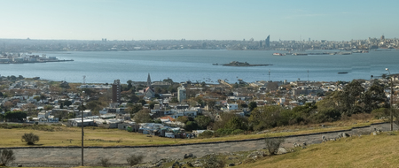 montevideo: Panorama take of Montevideo and  Rio de la Plata