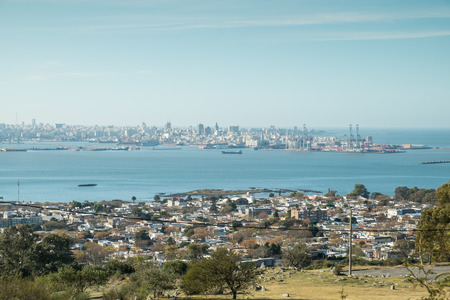 montevideo: Montevideo as seen from its fortress hill Stock Photo
