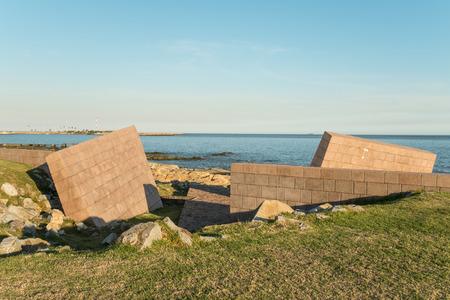 montevideo: MONTEVIDEO, URUGUAY - JULY 22, 2015: Holocaust memorial on the shore of Rio de la Plata