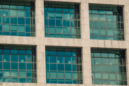 large windows: Full frame take of a facade with large windows