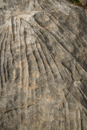 geological feature: Patterns from erosion on a large rock Stock Photo