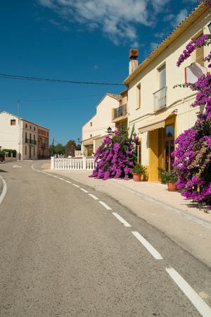 blanca: Road through a mountain village on Costa Blanca, Spain