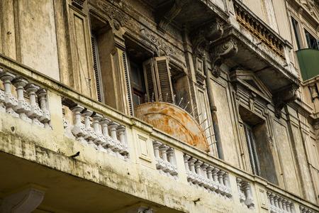 aires: Facade in historic San Telmo district, Buenos Aires, Argentina Stock Photo