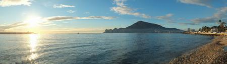 albir: Panorama take of Altea Bay, Costa Blanca, Spain