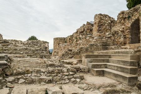 Remains of the Arabic  castle in Denia, Costa Blanca, Spain