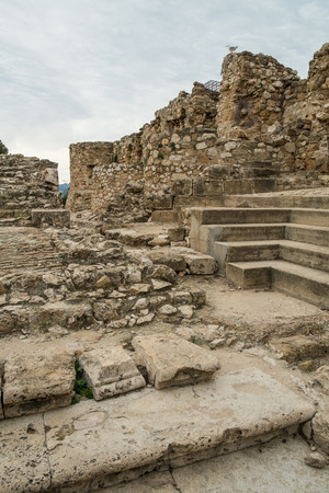 blanca: Remains of the Arabic  castle in Denia, Costa Blanca, Spain