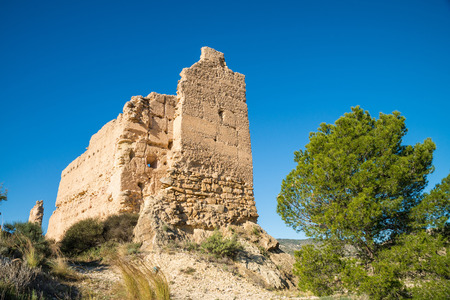 blanca: Remains of an Arab castle on sunny Costa Blanca, Spain