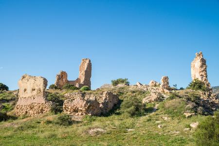 Remains of an Arab castle on sunny Costa Blanca, Spain