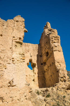 remains: Remains of an Arab castle on sunny Costa Blanca, Spain